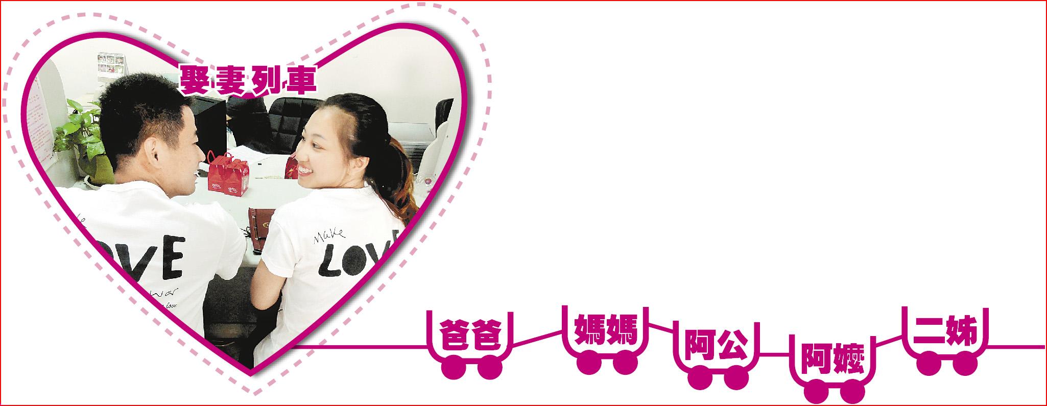 娶妻列車▲《老外娶陸妻的下場》日前在網上爆紅,其中文章提到「娶了陸妻,等於娶了全家」,引來不少已婚男認同。圖為今年七夕,一對身著情侶裝的新人在海南市辦理結婚登記手續。(設計畫面)■新華社