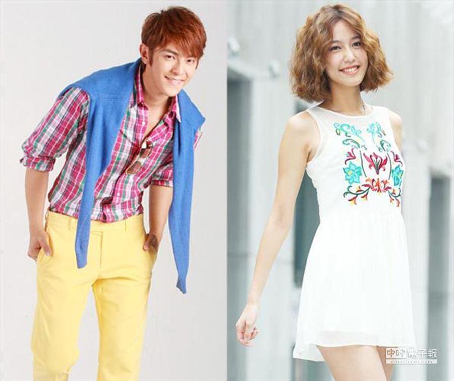 汪東城(左)與陳庭妮,在中時娛樂網舉辦的「七夕理想情人」投票中,目前位居男、女偶像劇演員的冠軍。(中時資料照片)