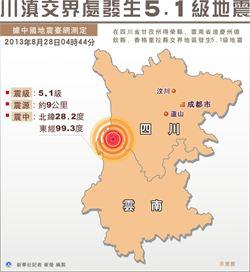 川滇交界發生5.1級地震 雲南迪慶尚無人員傷亡報告
