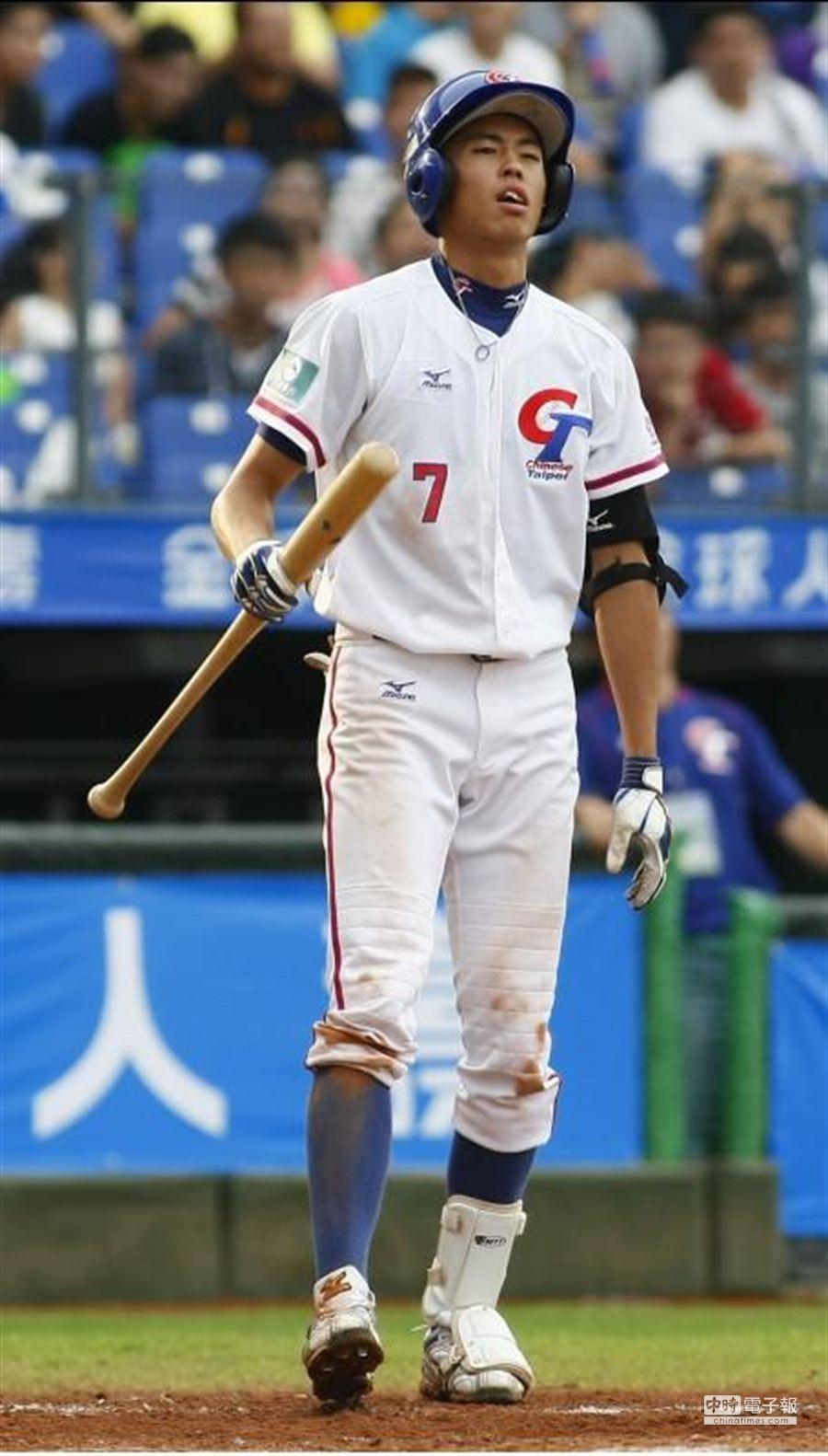 第26屆IBAF世界青棒賽,中日之戰,中華隊指定代打彭名宇,並未發揮強打功效。(黃國峰攝)