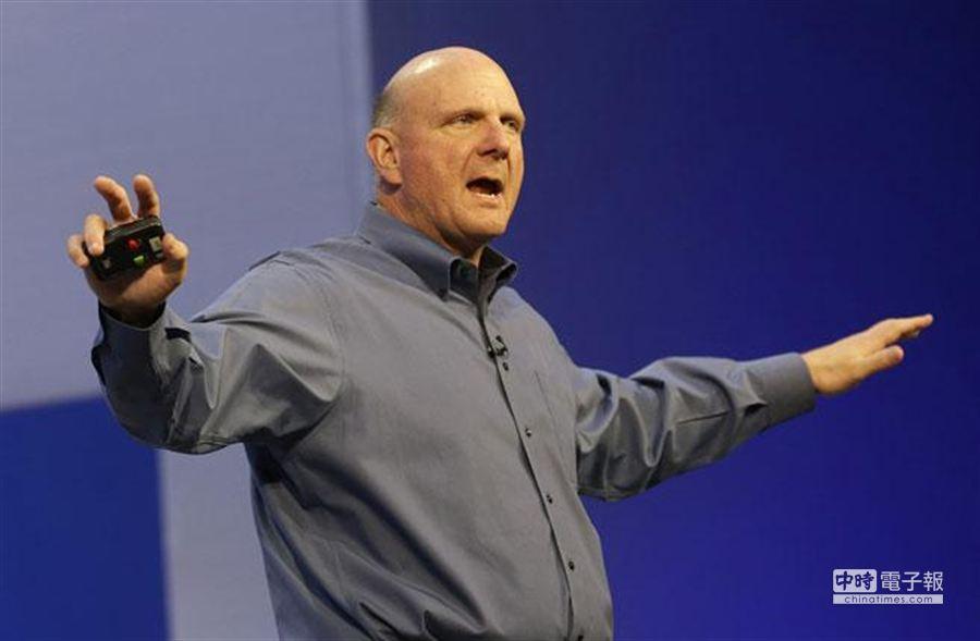 圖為即將離職的微軟總裁steve ballmer。﹝資料照片 美聯社﹞