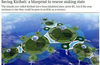 日人「設計」吉里巴斯 變世界第一漂浮國家