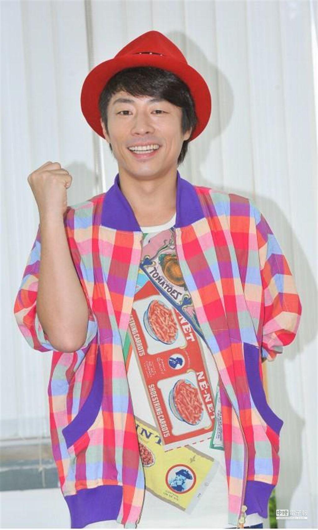 日本綜藝天王小淳來台分享喜訊,首次對外談婚事。(盧禕祺攝)