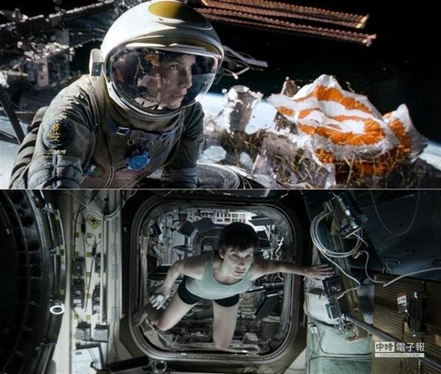 珊卓布拉克在新片《地心引力》中扮演一個企圖忘記自己過去的女太空人。(圖/華納提供)