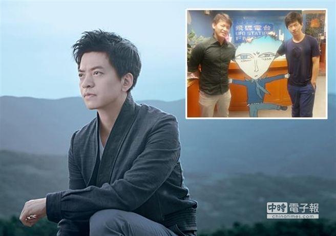 李建上回來台宣傳與名嘴謝哲青相認兄弟臉,更曾被誤認成羅志祥。(圖/美妙音樂提供)