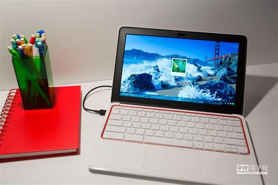 google近期推出的chromebook11筆電。﹝美聯社﹞