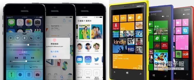 對國外這名微軟粉絲來說,雖然仍喜歡Windows Phone(圖右),但iPhone 5s無疑是目前最好的選擇。(翻攝自蘋果台灣官網、微軟台灣官網/合成)