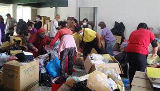 天主教會台中教區募集近5公噸愛心物資賑濟菲律賓