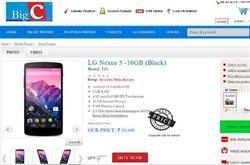 印度網路搶先賣Google Nexus 5