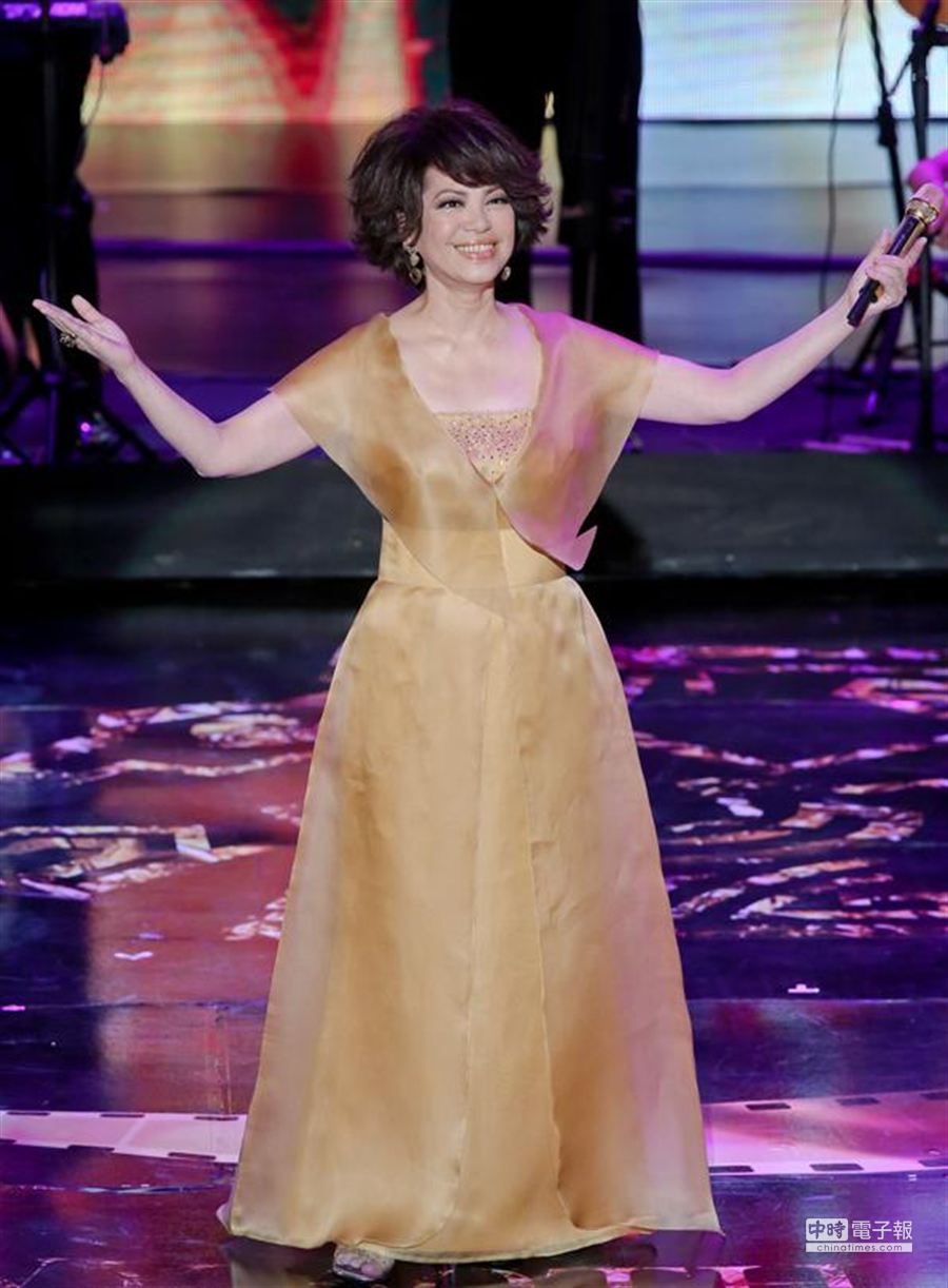 蔡琴在金馬獎典禮的精采演唱,是當晚節目一大亮點。(中時資料照片)