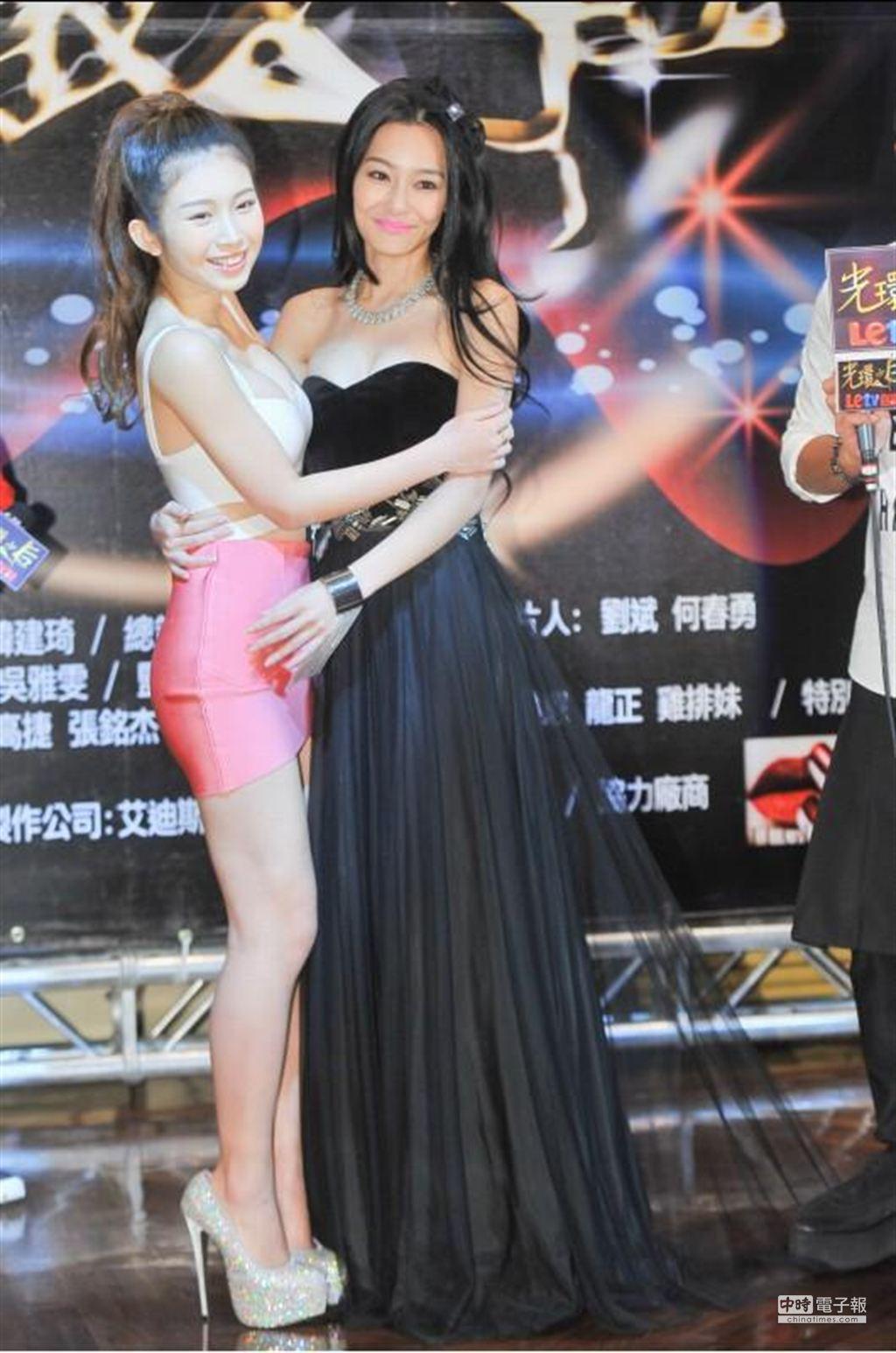 王思佳、雞排妹在拍戲期間鬧不合。(盧禕祺攝)