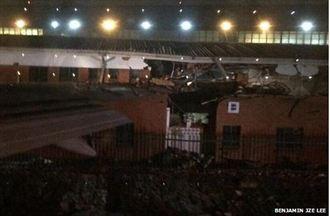 英航波音747撞上南非約堡建築物