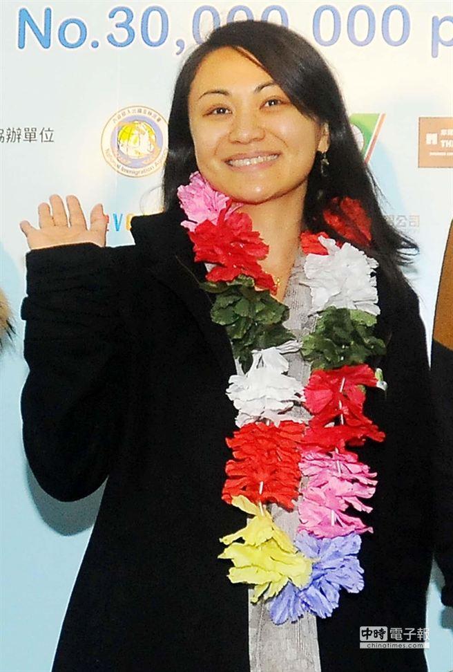 桃園國際機場24日上午喜迎今年第3000萬名旅客蔣光安(如圖)。(高興宇攝)