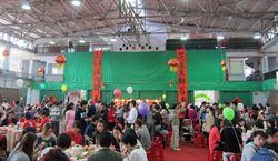 台灣大學外籍生、陸生迎新年  席開66桌