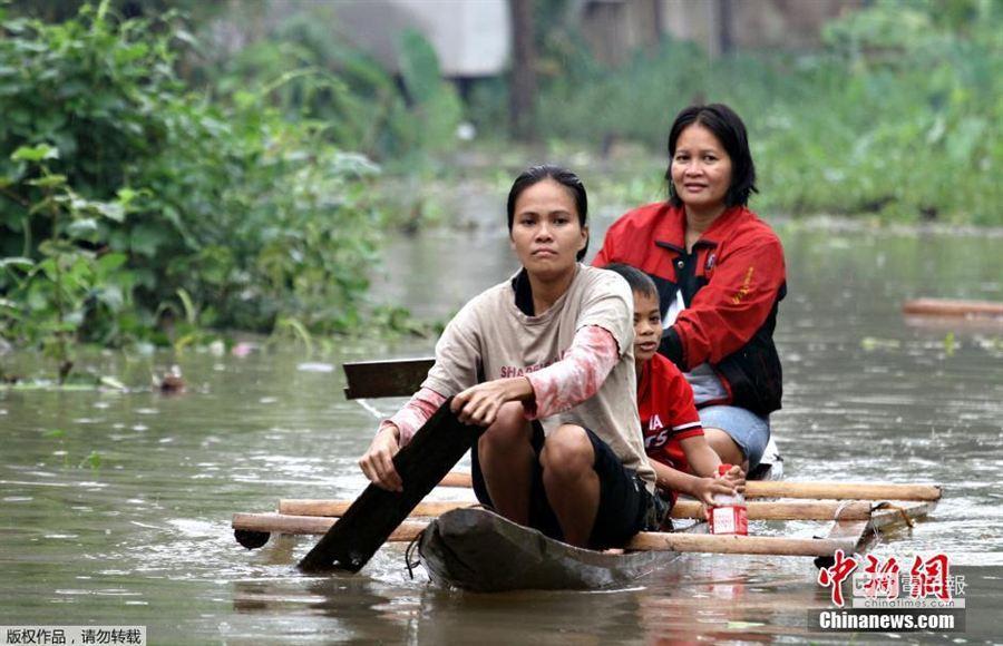 菲律賓大雨引發洪水 超過20萬人緊急撤離。(取自中新網)