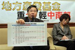 立委:地方產業發基金 重北輕中南