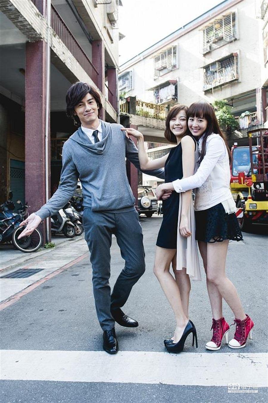 鄭元暢(左起)、陳意涵及張鈞甯私交不錯。(氧氣公司提供)