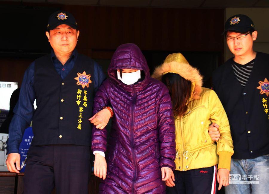 警方破獲人員販運集團,逮獲誘引同鄉賣淫的越南籍妹妹陳氏梅香和陳氏玉山。(羅浚濱攝)