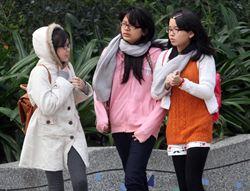 強烈大陸冷氣團影響台灣