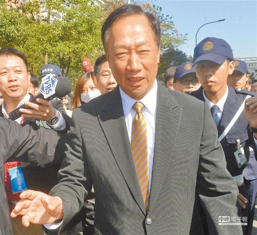 圖為鴻海集團董事長郭台銘。(本報系資料照片)