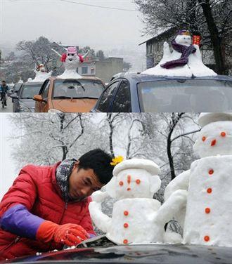 大賺寒流財!賣雪人娃娃 日進5千台幣