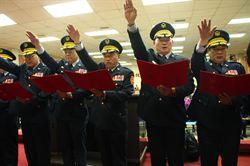 高市警局新任分局長、大隊長交接