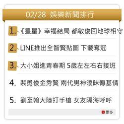 2/28 娛樂新聞排行 《星星》幸福結局居冠