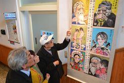 花蓮「藝躍洄瀾」展 85歲畫家揮毫