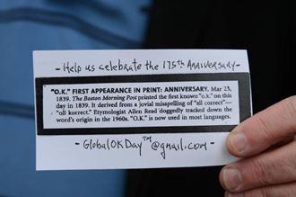 世界上最流行的用語「OK」 即將年滿175歲!