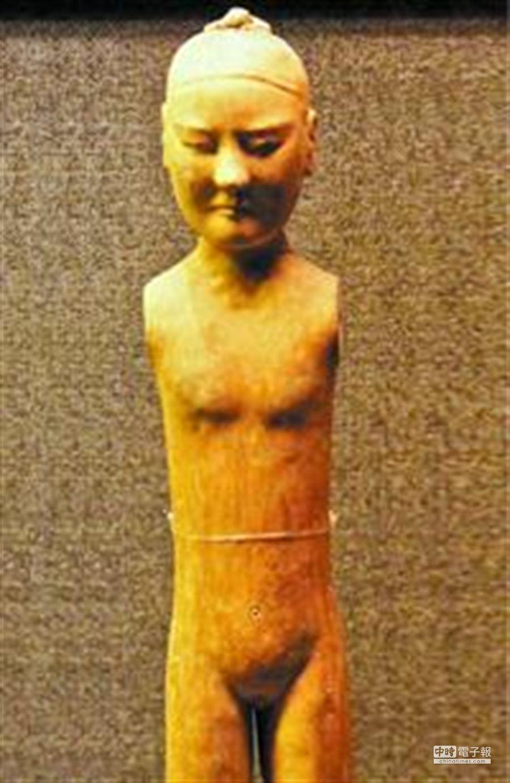 漢初宦官陶俑。(取自廣州日報)