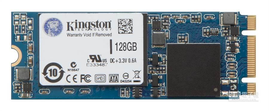 華碩超輕薄筆電ZENBOOK UX301LA 採用128GB的金士頓M.2 2260 SATA SSD固態硬碟。(圖/業者提供)