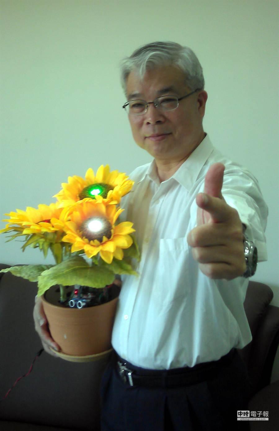 張宏榮在臉書上Kuso「我將帶著太陽花,前進俄羅斯!」(周麗蘭翻攝)
