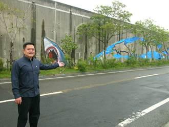 口湖鄉大壁畫教學 保育白海豚