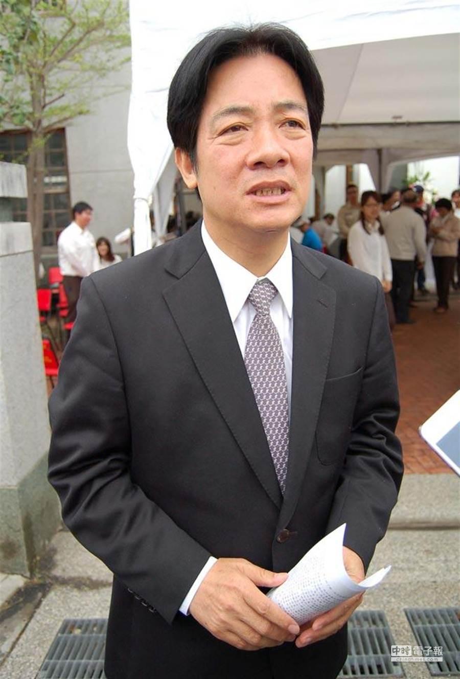 台南市長賴清德。(報系資料照 周曉婷攝)