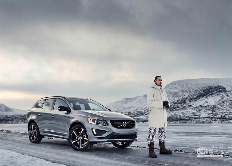 瑞典現任國家足球隊隊長Zlatan Ibrahimović為Volvo XC60拍攝廣告,向全世界傳遞「Made by Sweden」的瑞典精神。(VOLVO提供)