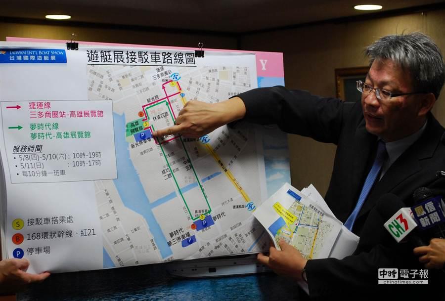 台灣國際遊艇展8至11日開展,預計吸引上萬人潮,交通局規畫接駁車及交通管制。(吳江泉攝)