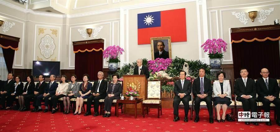 副總統吳敦義公布監委被提名人名單。(王爵暐攝)