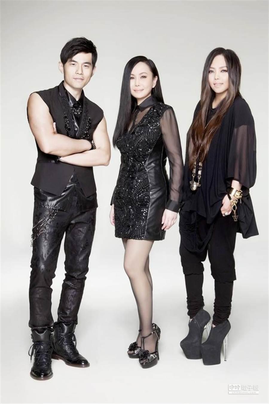 周杰倫、江蕙、張惠妹為第25屆金曲獎擔任宣傳大使。(圖/台視提供)