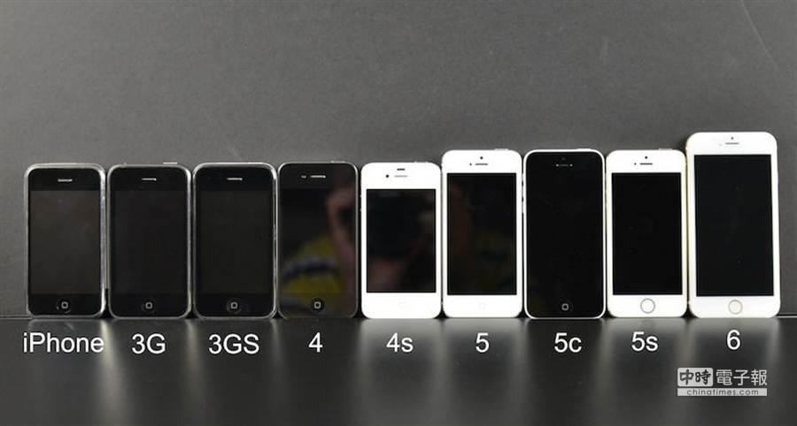 SonnyDickson 曝光的歷代iPhone照片,最右方疑似為iPhone 6。(圖/sonnydickson.com)
