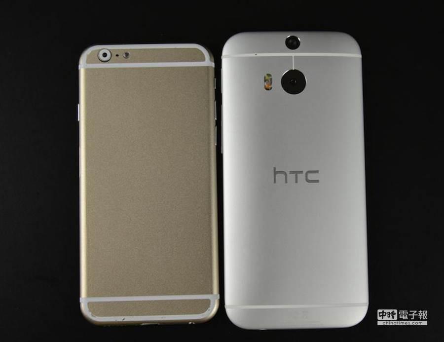 iPhone 6對比HTC One M8。(圖/sonnydickson.com)
