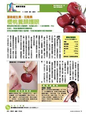 富含維生素、花青素 櫻桃養顏護眼