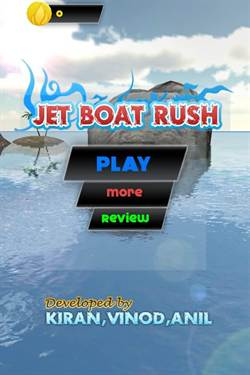 [限免]「Jet Boat Rush」噴射飛船跑酷遊戲!