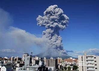 日本櫻島火山 噴煙達4500米