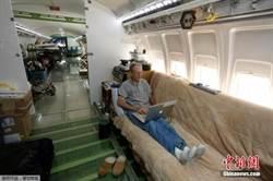 美工程師將除役客機改造為舒適住宅