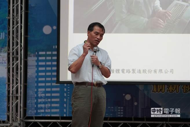 交通部長葉匡時今日在中山大學演講表示,台灣港務國際物流公司旨在開拓多國拆併櫃(MCC)的新領域,不會與民爭利。(顏瑞田攝)