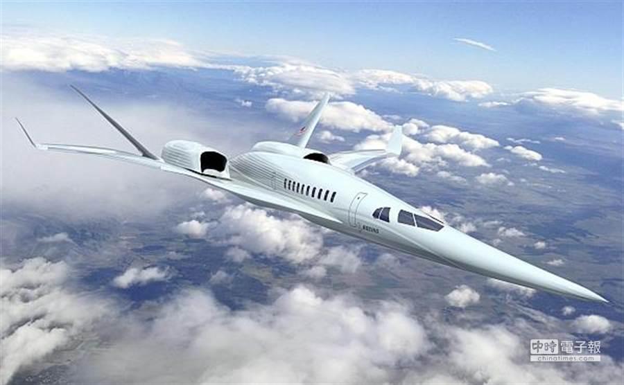 美國太空總署NASA研發新世代超音速客機。(圖/NASA)