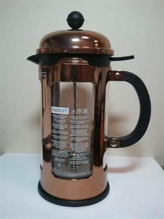 玫瑰金玻璃咖啡濾壓壺 回收退費