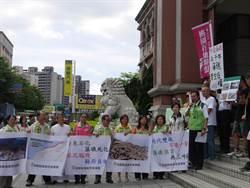 為千年藻礁討公道 民議會前抗議