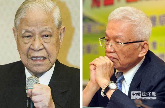 前總統李登輝(左)與前投管會主委劉泰英(右)國安密帳案,判決出爐。(本報系資料照片)