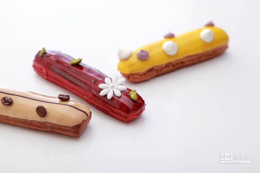 配合全球艾美酒店品牌發展計畫,台北寒舍艾美酒店以台灣水果與食材作出在地限量的閃電泡芙。(圖/寒舍艾美酒店)
